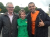 Paddy attends Ringsend May Day Fun Run and Parade with Claucio from Brazil and Madeleine from Australia Bank holiday Monday 5th May 2014