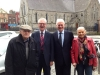 Paddy pictured in Ringsend with former Taoiseach John Bruton, and Oliver and Mary Weldon from Donnybrook.